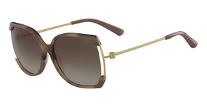 Calvin Klein CK8577S (248) LIGHT BROWN HORN