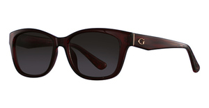 Guess GU7538 shiny red / gradient brown