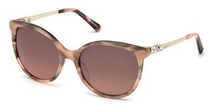 Swarovski SK0155 shiny pink / brown mirror
