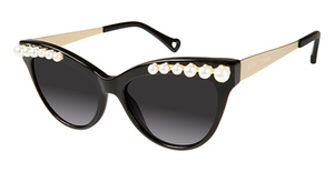 Betsey Johnson Kitty Pearls Black