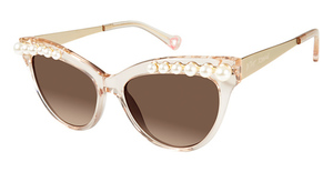 Betsey Johnson Kitty Pearls Tan