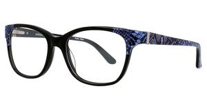 Aspex EC464 Black & Lavender Snake Pattern