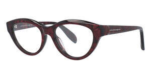 Alexander McQueen AM0045O Red-Red-Transparent