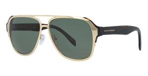 Alexander McQueen AM0012S Gold-Avana-Green