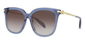 Alexander McQueen AM0107S BLUE-GOLD-BROWN