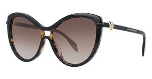Alexander McQueen AM0021S Black-Black-Brown