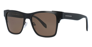 Alexander McQueen AM0011S Black-Black-Brown