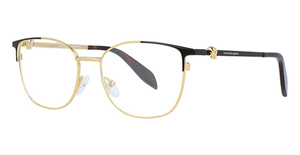 Alexander McQueen AM0109O GOLD-BLACK-TRANSPARENT