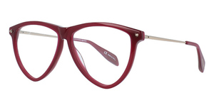 Alexander McQueen AM0105O Burgundy-Gold-Transparent