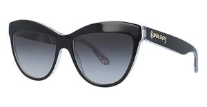 Burberry BE4267 TOP BLACK/PRINT DOODLE/T