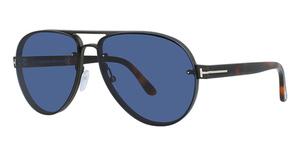 Tom Ford FT0622 shiny dark ruthenium / blue