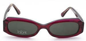 Lafont Jungle Dark Cranberry with Green Lenses