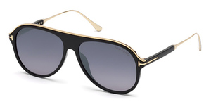 Tom Ford FT0624 Shiny Black / Smoke Mirror