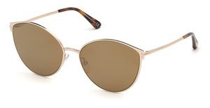 Tom Ford FT0654 Shiny Rose Gold / Brown Mirror