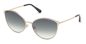 Tom Ford FT0654 shiny rose gold / gradient smoke