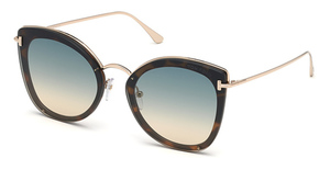 Tom Ford FT0657 blonde havana / gradient green