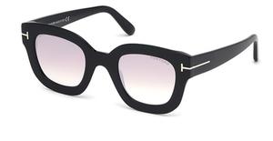Tom Ford FT0659 Shiny Black / Gradient Or Mirror Violet