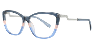 Aspex P5059 Crystal Dark Blue & Salmon & Blue
