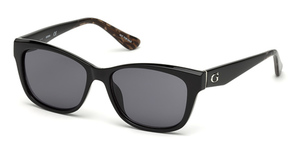 Guess GU7538 Shiny Black / Smoke