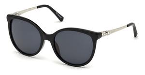 Swarovski SK0155 Shiny Black / Smoke Mirror