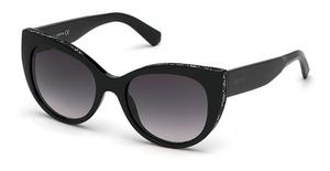 Swarovski SK0202 Shiny Black / Gradient Smoke