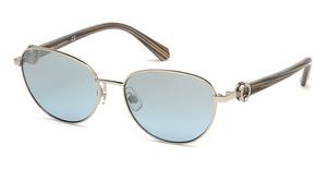 Swarovski SK0205 Shiny Palladium / Blu Mirror