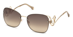 Roberto Cavalli RC1027 Shiny Rose Gold / Brown Mirror