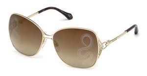 Roberto Cavalli RC1060 gold / brown mirror