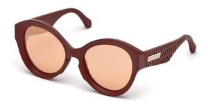 Roberto Cavalli RC1099 matte dark brown / brown mirror