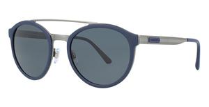 Giorgio Armani AR6077 MATTE GUNMETAL/BLUE RUBB