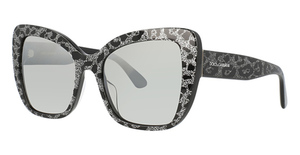 Dolce & Gabbana DG4348F LEO GLITTER BLACK