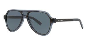 Dolce & Gabbana DG4355F TOP HAVANA ON TRANSP BLU