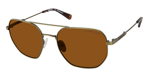 Kenneth Cole New York KC7243 matte dark green / brown polarized