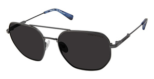 Kenneth Cole New York KC7243 Matte Gunmetal / Smoke Polarized