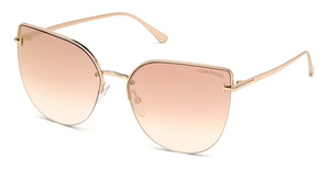 Tom Ford FT0652 Gold/Other / Gradient Or Mirror Violet