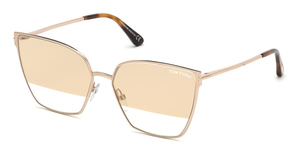 Tom Ford FT0653 shiny rose gold / gradient smoke