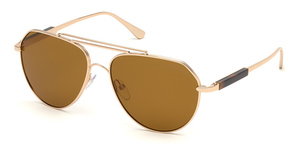 Tom Ford FT0670 shiny rose gold / brown
