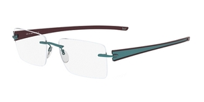 Silhouette 5255 chassis teal-bordeaux contrast