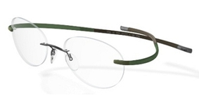 Silhouette 7685 green-brown palmbeach