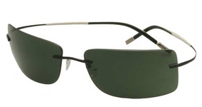 Silhouette 8654 Green Polarized