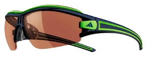 Adidas a167 evil eye half rim pro L ink/lime