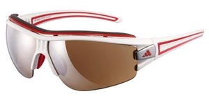 Adidas a167 evil eye half rim pro L Shiny white/red