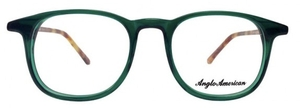 Anglo American AA402 Transparent Green with Demi Blonde Extra Temples