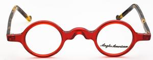 Anglo American Groucho Transparent Red w/Amber Havana