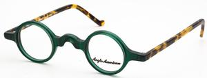 Anglo American Groucho Transparent Green with Amber Havana Temples