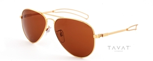 Tavat Ace II Shiny Gold with Polarized Bronze Melanin Lenses