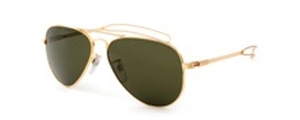 Tavat Ace II Shiny Gold with Polarized Melanin Vintage Grey Lenses