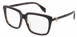 Alexander McQueen AM0022 Shiny Black Havana