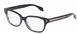 Alexander McQueen AM0026O Black-Black-Transparent