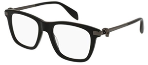 Alexander McQueen AM0086O Black-Ruthenium-Transparent